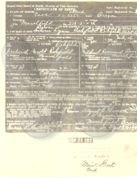 Birth Certificate - Dolores Rehfeld