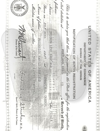 Dolores Rehfeld Record of Birth (Federal)