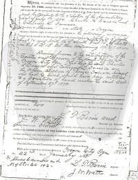 Donation of Land - Donica 1883